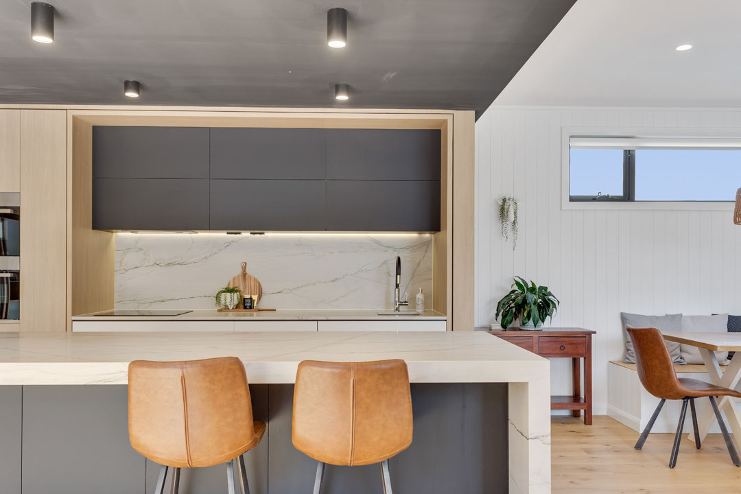 Chameleon Kitchens Queensland Kitchen + Bathroom Design Immaculate Kitchens built in bench and table